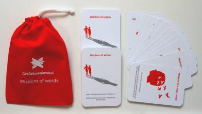 Karty Mądrości w języku angielskim do gry szkoleniowej Mądrość Słów - informacja zwrotna, komunikacja interpersonalna