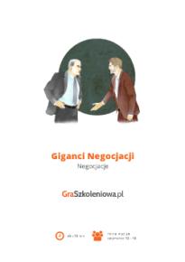 Gra szkoleniowa Giganci negocjacji - negocjacje